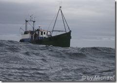 unser Boot im Anmarsch