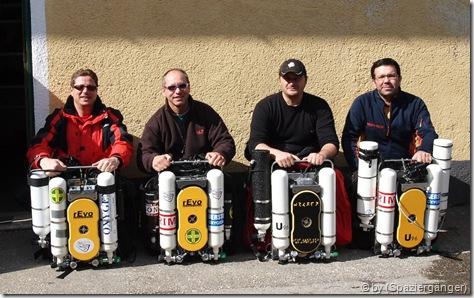 Matthias, Helmuth, Volker und Michael