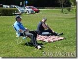 Kurt und Volker beim Sonnenbaden