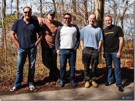 Eric, Volker, Michael, Frank und Christoph