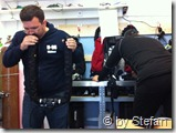 Michael und Volker beim Ausrüstungscheck