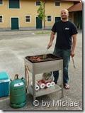 Christian beim Grillen