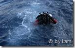 Stephan im Wasser