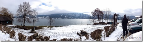Panorama am Attersee