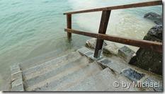 Die Stufen an der Schwarzen Brücke